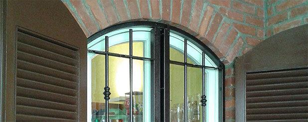 Inferriate ad arco e su disegno - Serrande per finestre prezzi ...