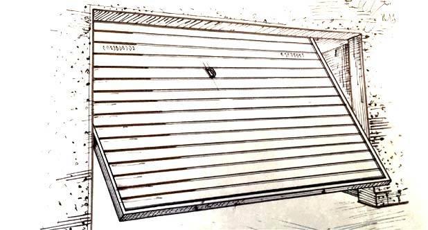 disegno tecnico bozzetti porte garage sbarre a livello